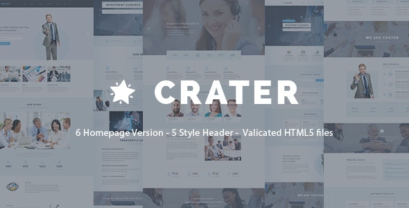 Crater - Professional HTML5 Business Template - Corporate Site Templates