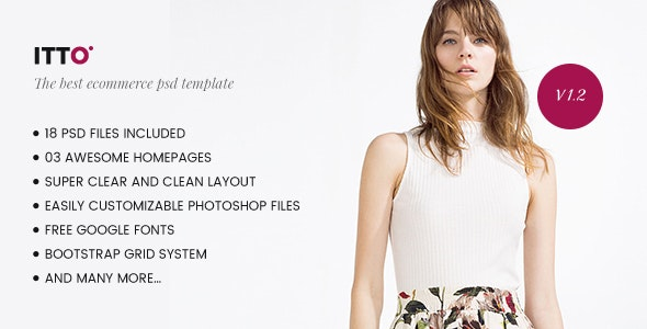 Itto - Ecommerce PSD Template - Retail Photoshop