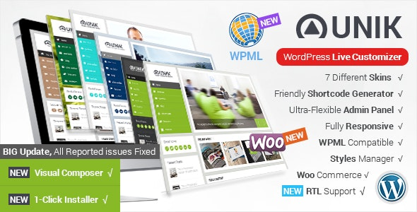 Unik - Responsive Multi-Purpose Theme - Business Corporate