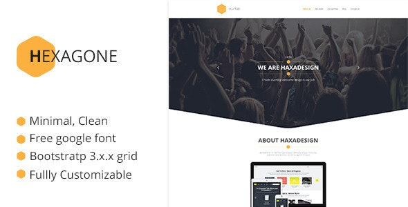 Hexagone - One Page Multi-Purpose Template - Corporate Site Templates