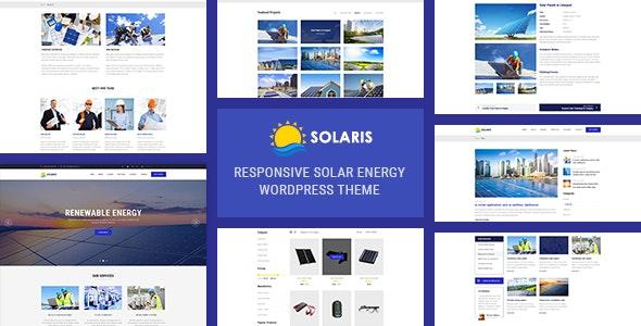 Solaris - Solar Environmental Energy WordPress Theme - Business Corporate