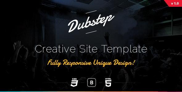 Dubstep - Creative Site Template - Creative Site Templates