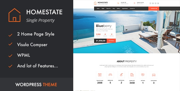 HOME STATE - Single Property Real Estate WordPress Theme - Real Estate WordPress