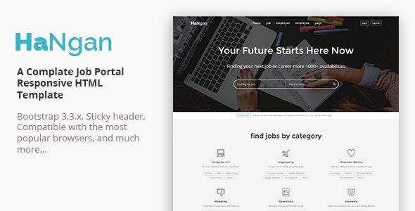 HaNgan - Job Portal Responsive HTML Template - Business Corporate