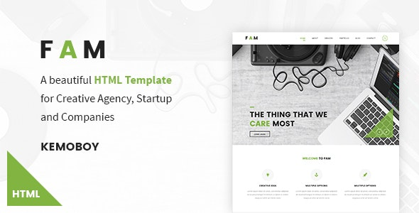 FAM - Creative Agency HTML Templates - Creative Site Templates