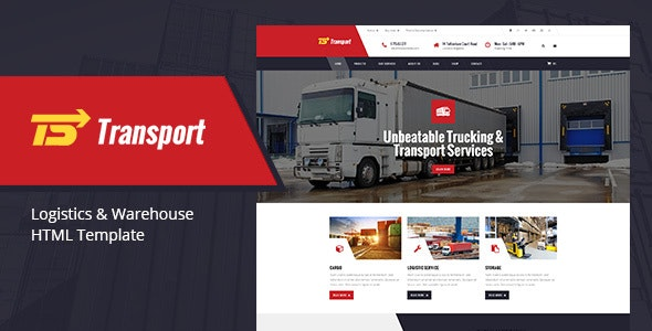 Transport - Transport, Logistic & Warehouse HTML Template - Business Corporate