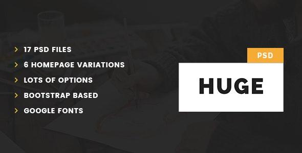 Huge – Multipurpose PSD Template - Corporate PSD Templates