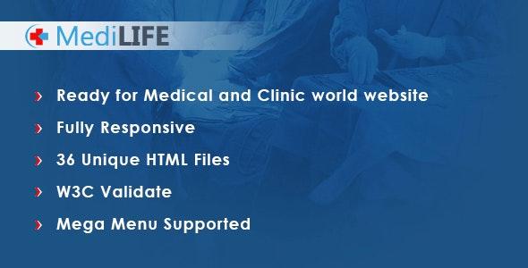 MediLIFE - Multipurpose Medical Template - Health & Beauty Retail