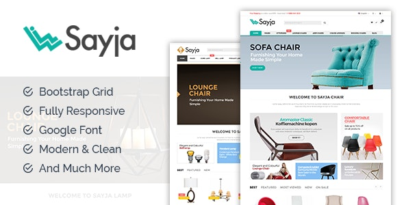 Sayia - Furniture & Watch Store HTML Template - Shopping Retail