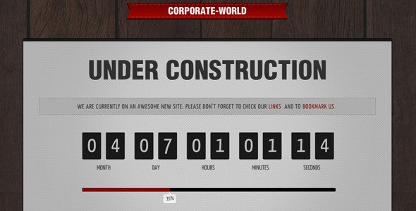 Corporate World - Under Construction - Under Construction Specialty Pages