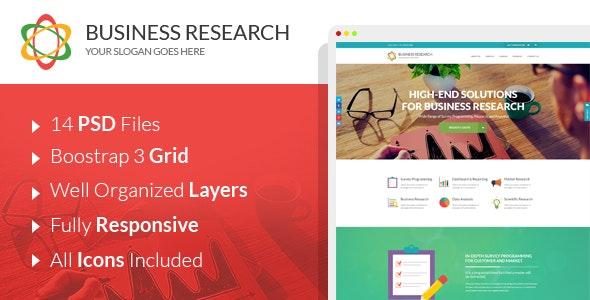 Business Research | Creative PSD Template - Photoshop UI Templates