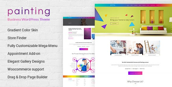 Paint - Painting Company WordPress Theme