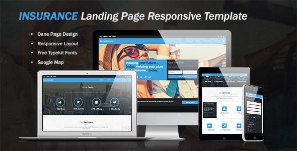 Insurance Landing Page Template - Landing Muse Templates