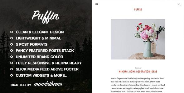 Puffin - A Responsive WordPress Blog Theme - Personal Blog / Magazine