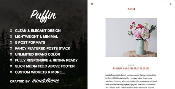 Puffin - A Responsive WordPress Blog Theme
