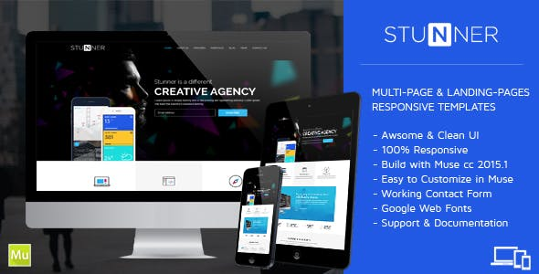 STUNNER - Creative Multipurpose Muse Templates