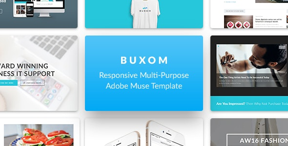 Buxom - Responsive Multi-Purpose Muse Template - Creative Muse Templates