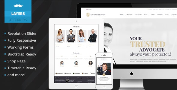 Lawyers Attorneys Legal Template - Business Corporate