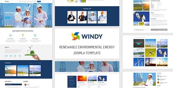 ZT Windy - Renewable Environmental Energy Joomla Template