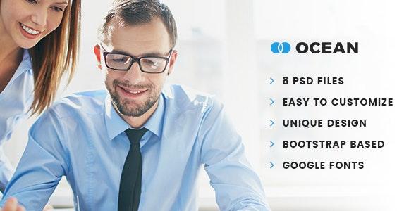Ocean - Business PSD Template - Business Corporate
