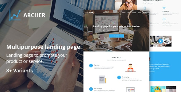 Archer - Responsive Landing Page - Landing Pages Marketing