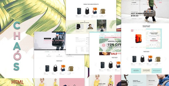Chaos - Bag Store HTML5 Template - Shopping Retail