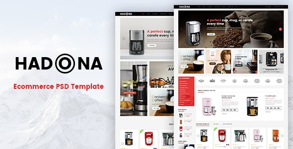 Hadona - Ecommerce PSD Template - Retail PSD Templates