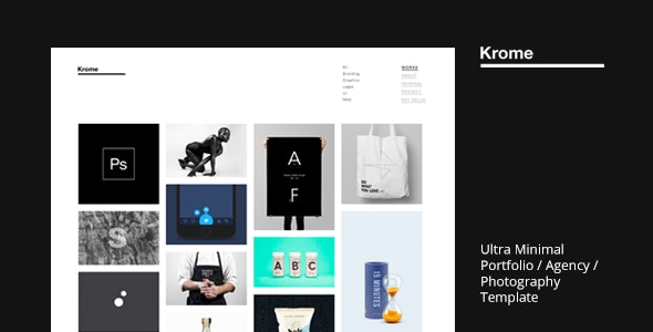 KROME - Pure & Minimal Creative Portfolio / Agency / Photography Template - Portfolio Creative