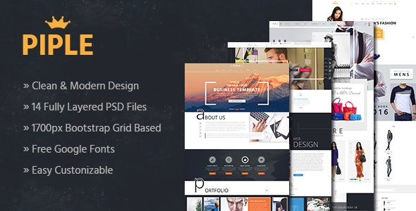 Piple - Business & Ecommerce PSD Template - Shopping Retail