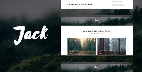 Jack - Clean Modern Blogging & Photography Template