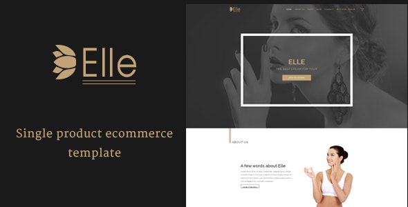 Elle - Single Product Ecommerce PSD Template - Health & Beauty Retail