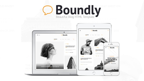 Boundly - Beautiful Blog HTML Template - Personal Site Templates