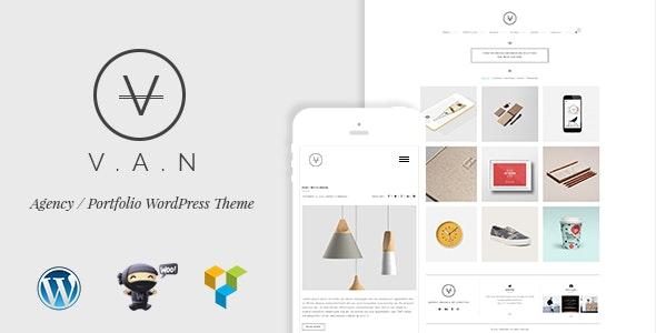 VAN - Minimalist Agency, Photo Gallery Shop Theme - Creative WordPress