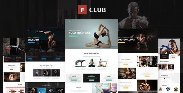 FightClub - Premium Crossfit Mma Bodybuilding Fitness & Yoga Html Template