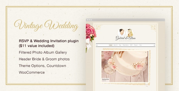 Vintage Wedding WordPress Theme - Wedding WordPress