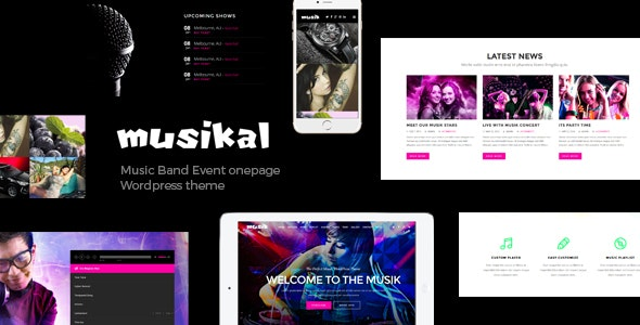 Musikal - OnePage Music WordPress Theme - Music and Bands Entertainment