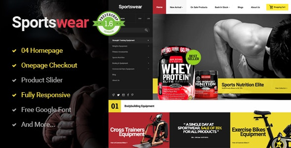 Sportwear - Multi Purpose Responsive PrestaShop Theme  - Shopping PrestaShop