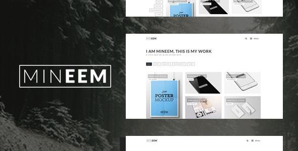 Mineem - Ultra Clean Minimal Modern Portfolio & Blog - Portfolio Creative