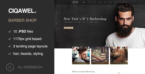 Cigawel - Barbershop PSD Template - Health & Beauty Retail