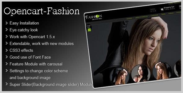 Fashion Theme for Opencart 1.5 - Fashion OpenCart