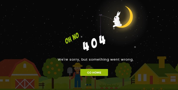 Sunset - Creative Animated 404 Page - 404 Pages Specialty Pages