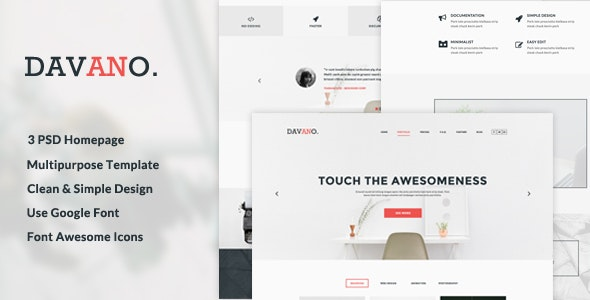 Davano - Multipurpose Corporate PSD Template - Corporate Photoshop