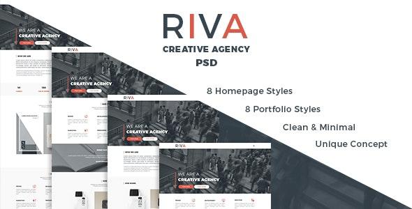 Riva | Agency and Portfolio PSD Template - Portfolio Creative