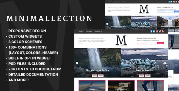 Minimallection - Responsive Minimal Blog Theme - Blog / Magazine WordPress
