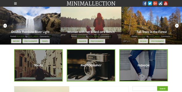 Minimallection - Responsive Minimal Blog Theme
