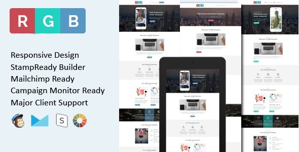 RGB - Multipurpose Responsive Email Template + Stamp Ready Builder - Email Templates Marketing