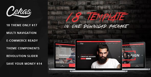Cekas agency and creative bootstrap template