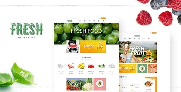 Fresh - Organic store PSD Template - Food Retail