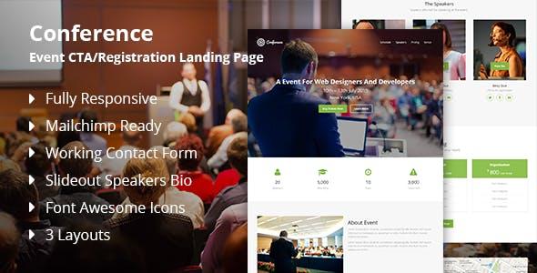 Conference - Event CTA/Registration Landing Page