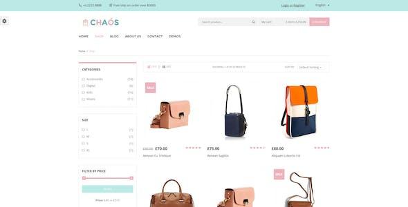 Chaos - Responsive Bag Shop Theme